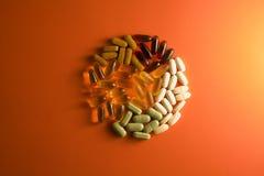 Supplementi nutrizionali Immagine Stock Libera da Diritti