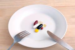 Supplementi nutrizionali Fotografie Stock