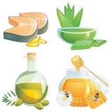 Supplementi sani dell'alimento Fotografia Stock Libera da Diritti
