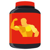 Supplements Bottle Illustration Isolated On White BackgroundVector Supplements Bottle Illustration Isolated On White Background Royalty Free Stock Photo
