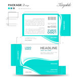 Supplements and Cosmetic box design Royalty Free Stock Photography