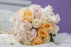Bouquet and wedding accessories. They are the supplements industry and a wedding stock image