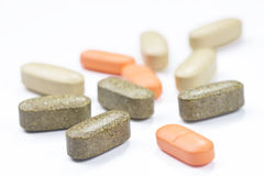 Supplements isolated Royalty Free Stock Images