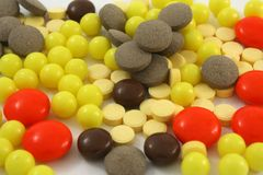 Supplements and Vitamins Royalty Free Stock Photos