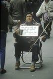 Supplica dell'uomo cieco Immagine Stock Libera da Diritti