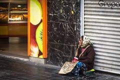 Supplica spagnola della donna Fotografia Stock