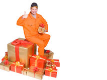 Supplier and box Stock Images