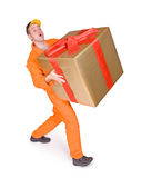 Supplier with box Royalty Free Stock Photo