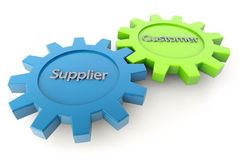 Supplier and customer gears Royalty Free Stock Photography