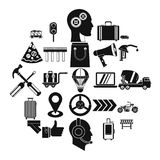 Supplier icons set, simple style. Supplier icons set. Simple set of 25 supplier vector icons for web isolated on white background Royalty Free Stock Image