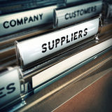 Suppliers Management Concept Stock Photography