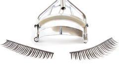 Supplies for curling eyelashes and false eyelashes Royalty Free Stock Photos