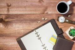 Supplies and gadgets on desk table.Online shopping concept. Royalty Free Stock Images