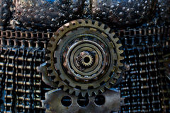Supplies for industrial,  technology gears Background Royalty Free Stock Images