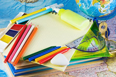 Supplies for school Royalty Free Stock Photos