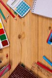 Supplies for school Stock Image