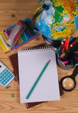 Supplies for school Royalty Free Stock Image