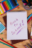 Supplies for school Royalty Free Stock Images