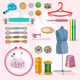 Supplies for sewing Royalty Free Stock Images