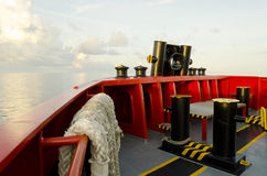 Supply boat. Front of supply boat in oil field Royalty Free Stock Photography