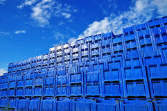 Supply boxes & stack stock image