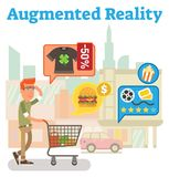 Supply chain augmented reality Royalty Free Stock Image