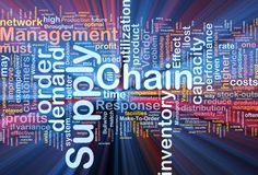 Supply chain background concept glowing Royalty Free Stock Photography