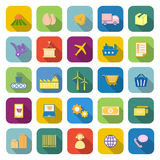 Supply chain color icons with long shadow Stock Image
