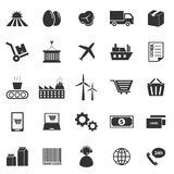 Supply chain icons on white background Stock Photo