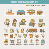 Supply chain infographic elements Stock Photo