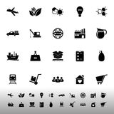 Supply chain and logistic icons on white background Stock Photography
