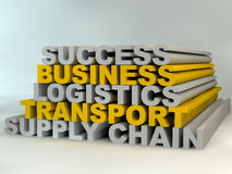 Supply Chain Management. Leads to business success Stock Images