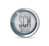 Supply chain management button illustration Stock Images