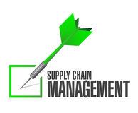 supply chain management check dart Stock Photography