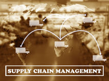 Supply Chain Management Concept. Global trading network, supply chain management concept, logistic import and export, Elements of this image furnished by NASA Royalty Free Stock Image