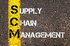 Supply chain management des acronymes SCM- Image libre de droits