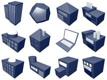 Supply Chain Management Icon Symbol Set. A series of objects for supply chain management diagrams and industry related Royalty Free Stock Images