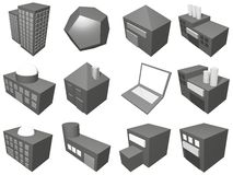 Supply Chain Management Icon Symbol Set. A series of objects for supply chain management diagrams and industry related royalty free illustration