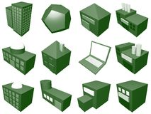 Supply Chain Management Icon Symbol Set. A series of objects for supply chain management diagrams and industry related vector illustration