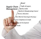 Supply Chain Management. Presenting diagram of Supply Chain Management Royalty Free Stock Photography
