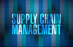 Supply chain management sign illustration Stock Photography