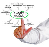 Supply Chain. Presenting diagram of Supply Chain Royalty Free Stock Image