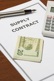 Supply Contract Stock Photo