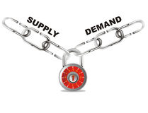 Supply and demand connect chain Royalty Free Stock Images