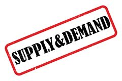 Supply and demand heading. Supply and demand stamped heading on white background vector illustration