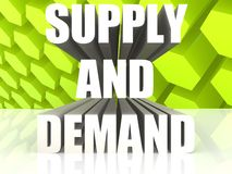 Supply And Demand Royalty Free Stock Photo