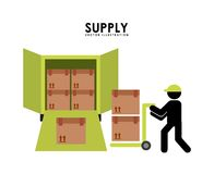 Supply design. Supply graphic design ,  illustration Royalty Free Stock Photos