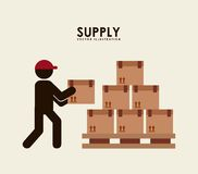Supply design. Supply graphic design , vector illustration Royalty Free Stock Photography