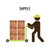 Supply design. Supply graphic design , vector illustration Stock Image