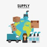 Supply design Stock Images